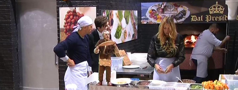 Elenoire e Stefano in pizzeria