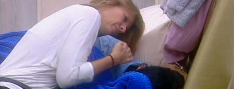 Pamela in lacrime