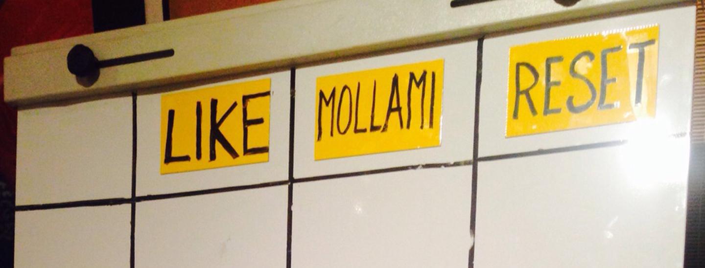Momento lavagne: Like/Mollami/Reset
